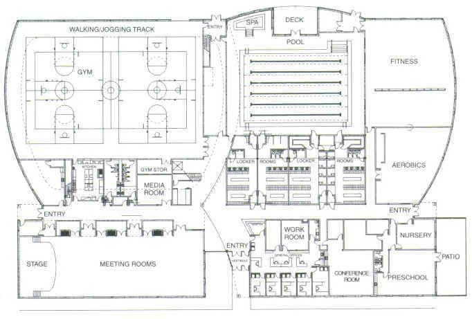 Community center plan plan pinterest community for Fitness center floor plan