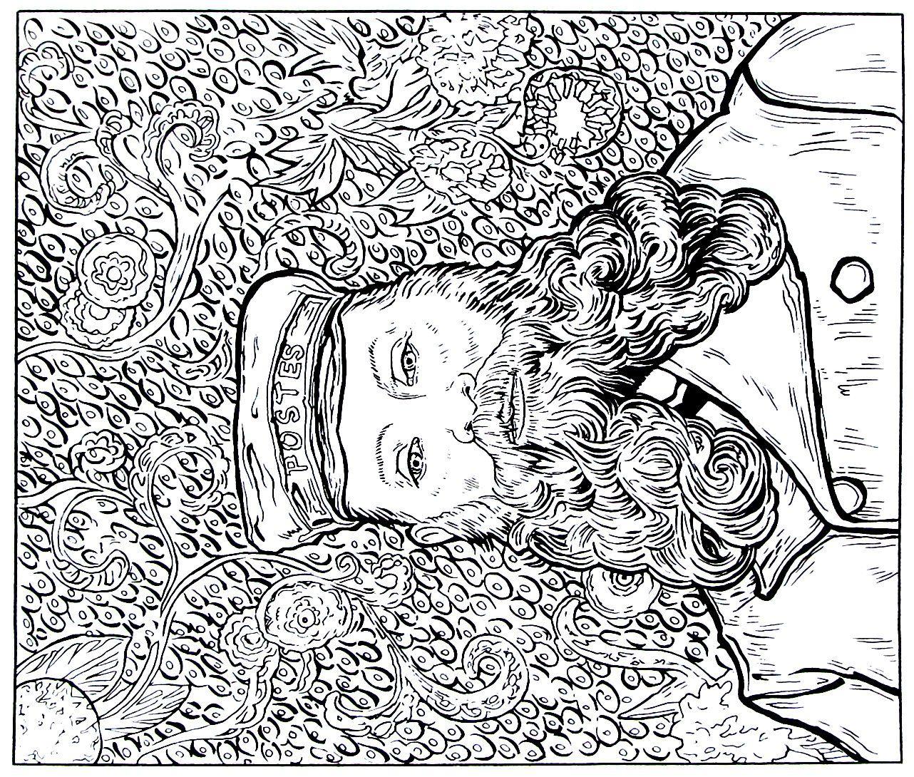 38++ Van gogh coloring sheets inspirations