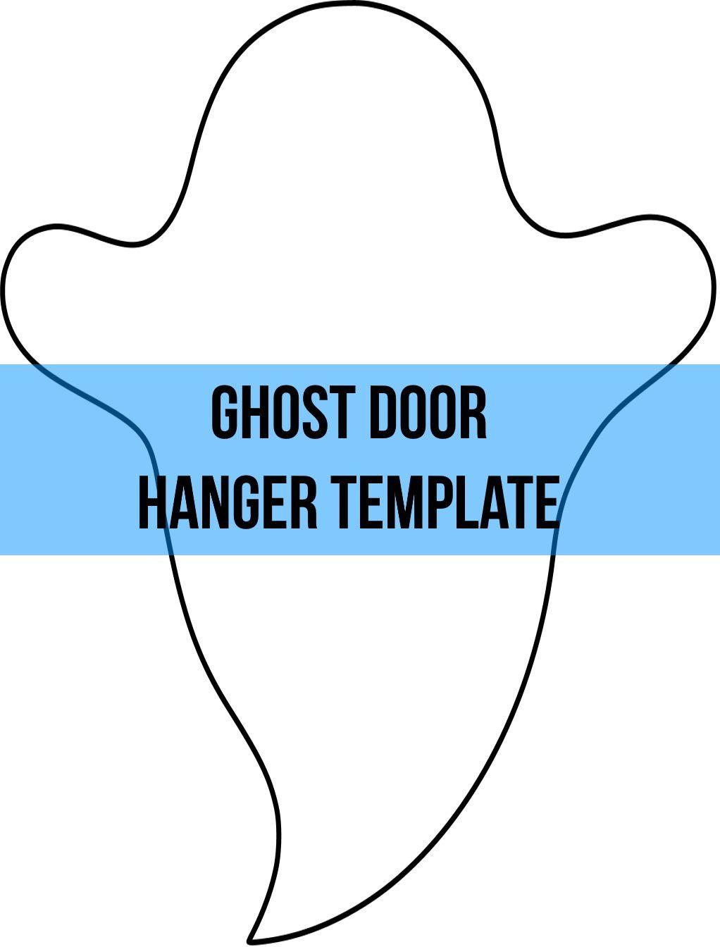 Ghost Door Hanger Wreath Attachment Template Door Hanger