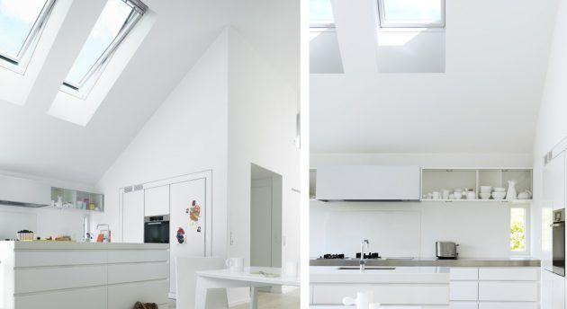 VELUX Dachfenster u2013 schöne Ideen für verschiedene Räume - küchen für dachgeschosswohnungen
