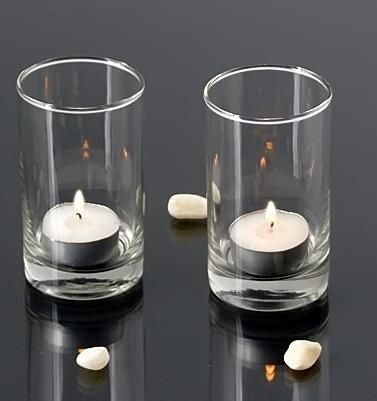 4 Tall Votive Holders Set Of 72 Glass Cylinder Candle Holders