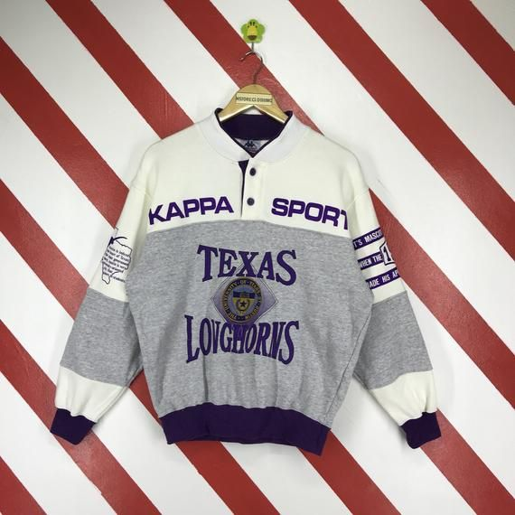 03f1873e00 Vintage 90s Kappa Sweatshirt Spellout Kappa Sweater Button Down ...