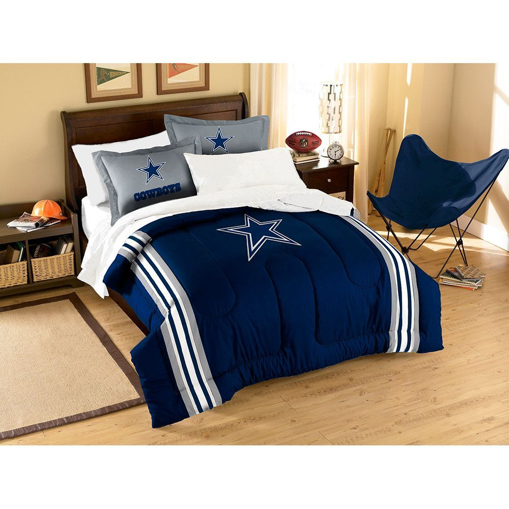 Dallas Cowboys NFL Embroidered Comforter Twin/Full (Contrast Series) (64 x 86)