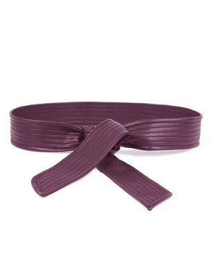 Plus Size Quilted Faux Leather Obi Belt From The Plus Size Fashion Community At www.VintageAndCurvy.com
