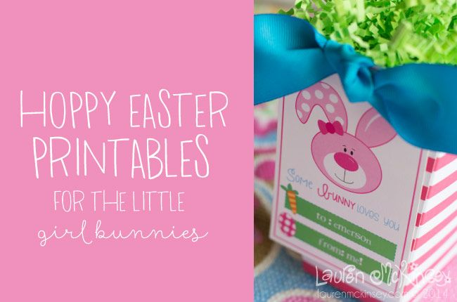 Hoppy easter printable collection from lauren mckinsey girl hoppy easter printable collection from lauren mckinsey girl gift tags laurenmckinsey negle Choice Image