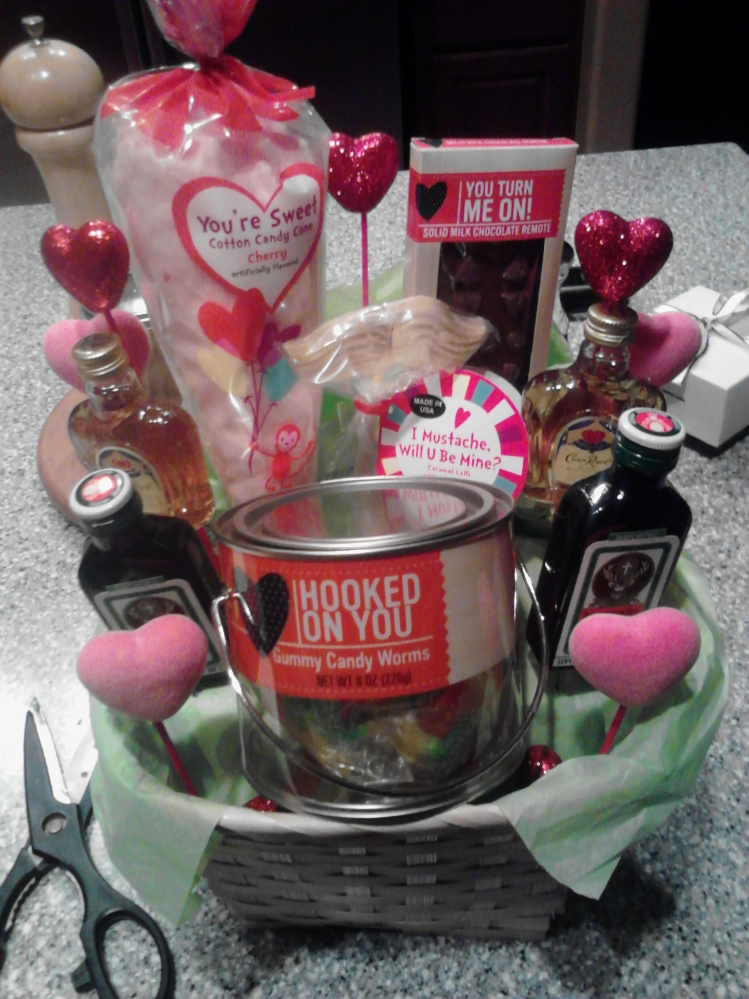 Diy valentines day or any holiday basket candy and