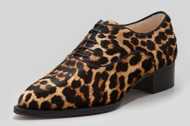c389d7610cf7 Christian Louboutin Zazou Leopard Derby Flats