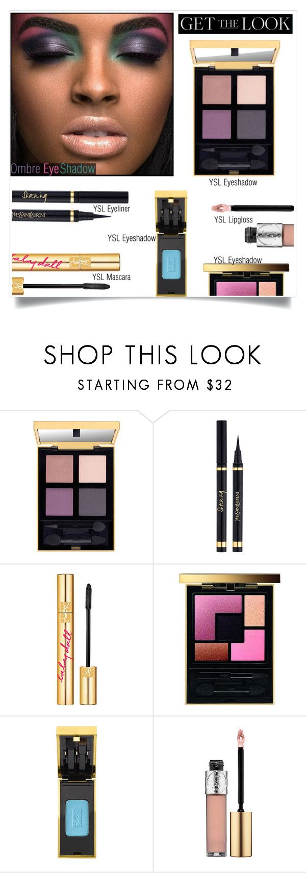 """Get The Look: Ombre Eye Shadow 2"" by melindairenes ❤ liked on Polyvore featuring beauty, PUR, Yves Saint Laurent, ombreeyes, thanksdarling, thanksweetpolyfriends, blessyouall, thankslovelies and Sorryforthelatereply"