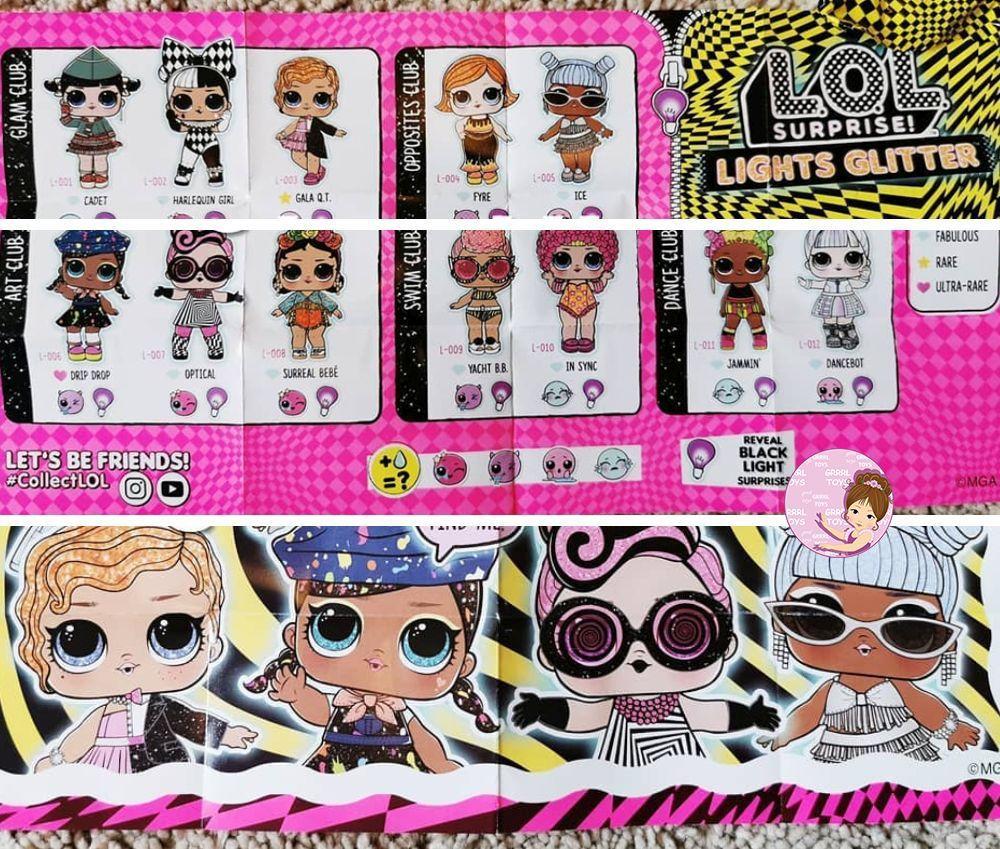 Checklist L O L Surprise Lights Glitter Series 2020 Lol Dolls Lol Dolls