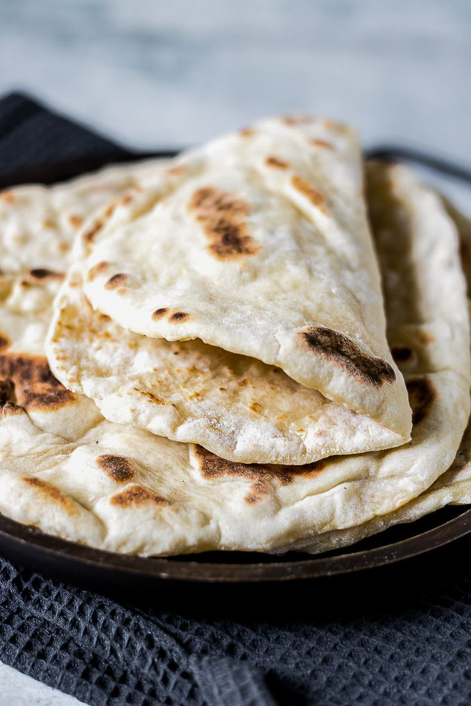 Quick And Easy Yeast Free Naan Bread Recipe Food Recipes