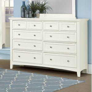 Best Gastelum 8 Drawer Double Dresser Furniture White 400 x 300