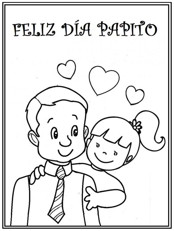 Dibujos Colorear Dia Del Padre Ii Estudiando Con Mama Dibujos Dia Del Padre Dibujos Para Papa Papa Dibujo