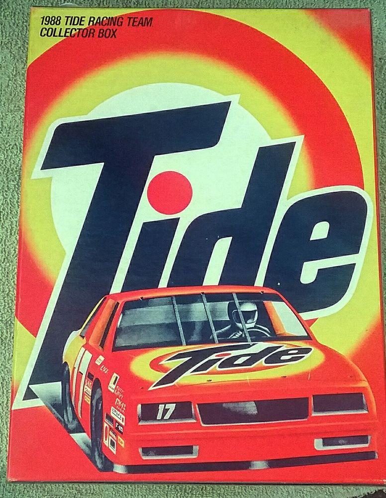1988 Vintage Tide Nascar Racing Team Box Soap Powder Box Rare Vintage Tide 80s Nascar Nascar Racing Racing Team Nascar