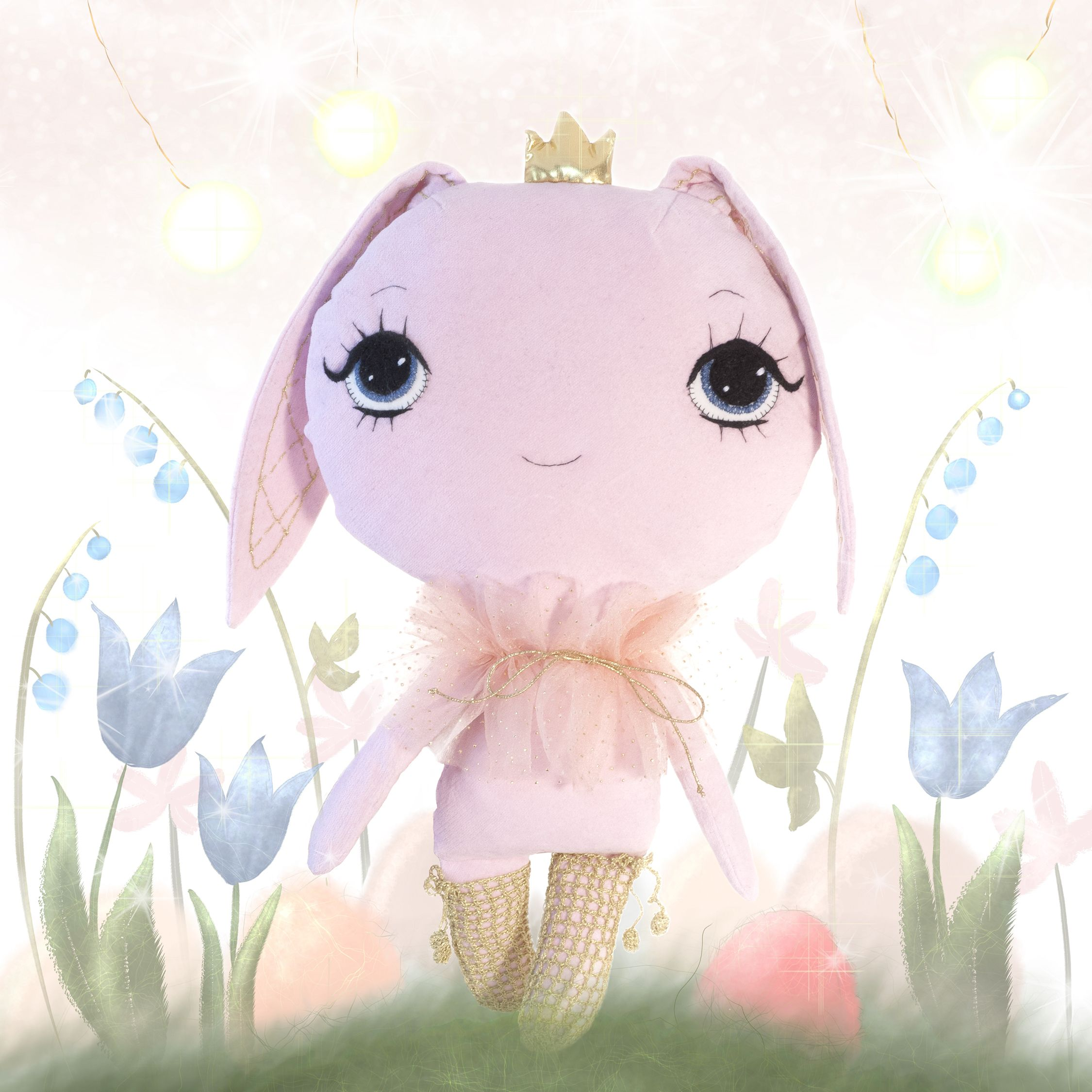 Dollcloud pink cotton bunny doll for 2017 February giveaway #bunny