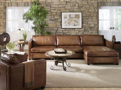 Buy Phoenix 100 Full Aniline Leather Sectional Sofa With Chaise Vintage Amaretto