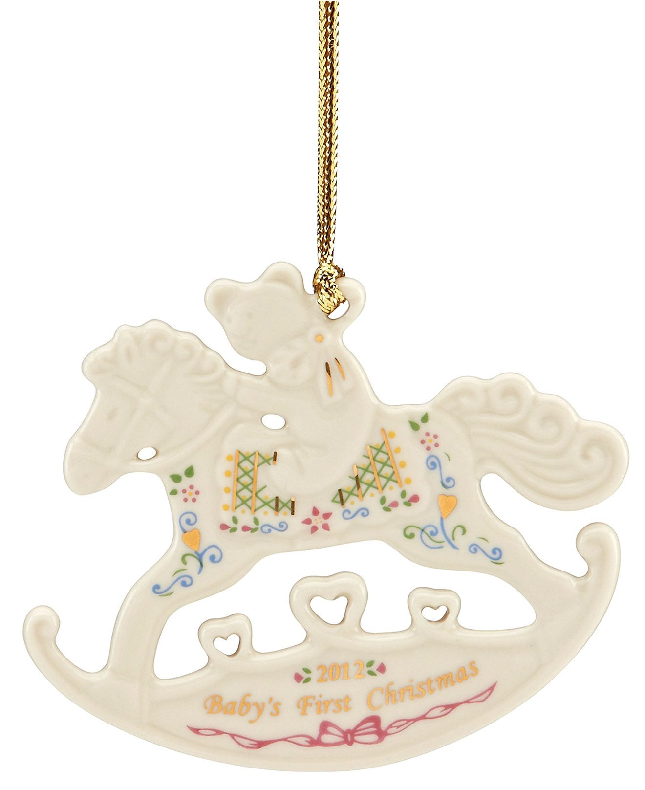 Lenox Christmas Ornament, Exclusive 2012 Baby's First Rocking Horse  2012 Christmas  Ornaments  Holiday Lane  Macy's  Holidays  Pinterest  Rocking