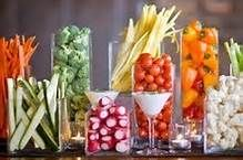 Amazing presentations - sure beats a typical veggie tray!  Fun idea!