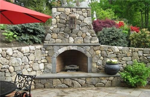 Backyard Fireplaces Designs For Corners   Bing Images