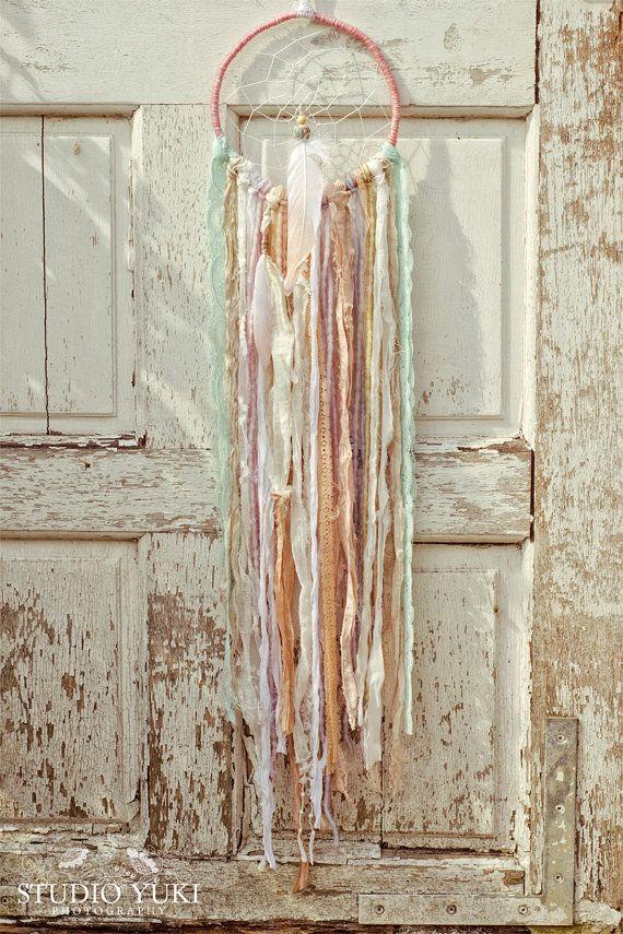 Boho Dreamcatcher Pastel Shabby Chic Vintage Lace