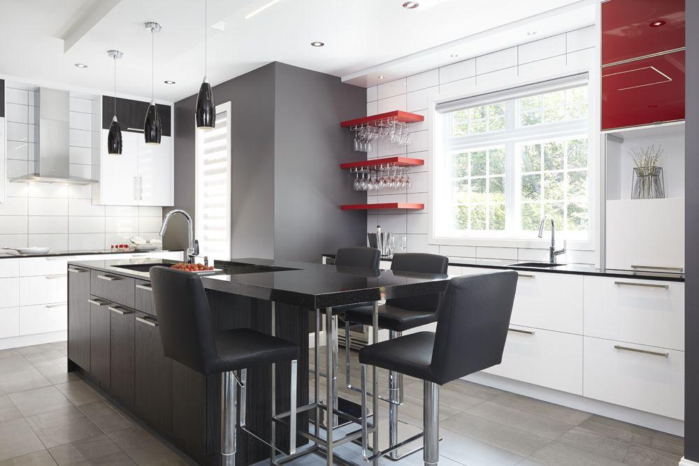 Rénovation de cuisine contemporaine multifonctionnelle ...