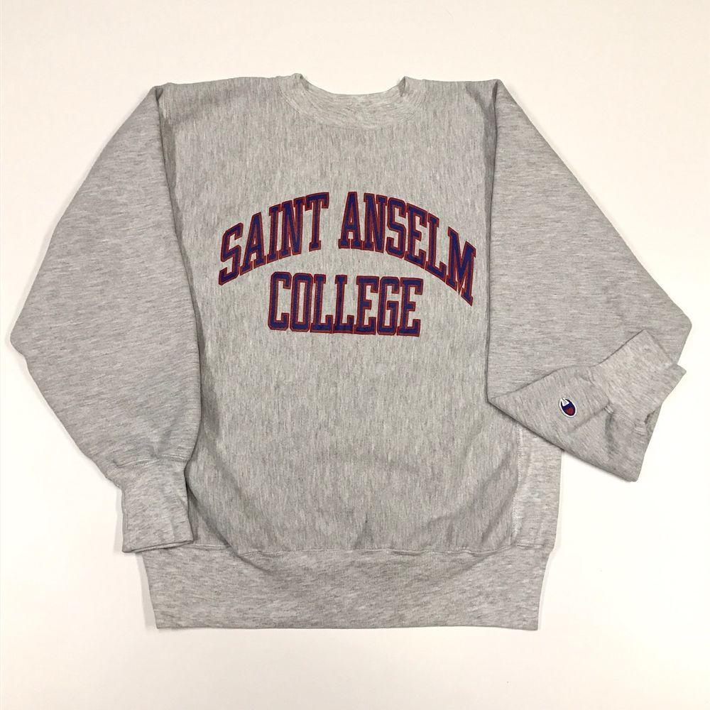 Details about Saint Anselm College Sweatshirt Crewneck Vintage ...