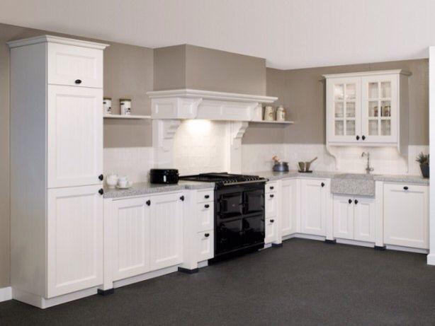 Landelijke Keuken Ideeen : Landelijke keuken met fornuis en schouw kitchen in