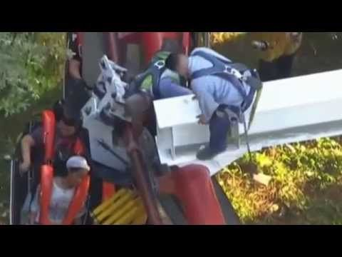 Roller Coaster Accident Six Flags Roller Coaster Magic Mountain Ninja R