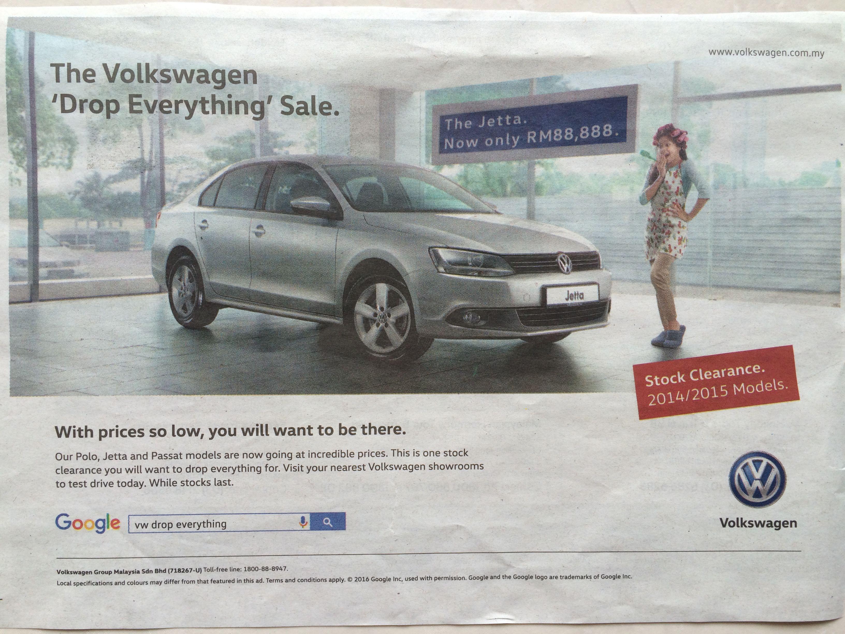 Volkswagen Malaysia Ads Transport G Newspaper Ads
