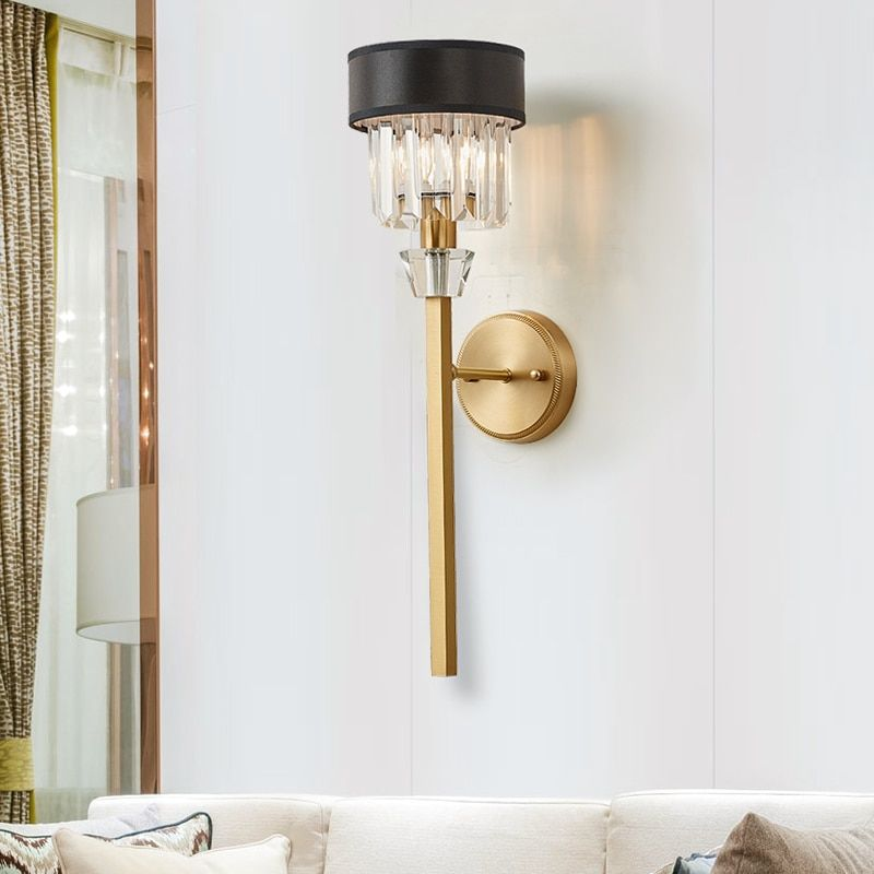 Fashion Crystal Wall Light For Living Room Bedroom Bedside Lamps