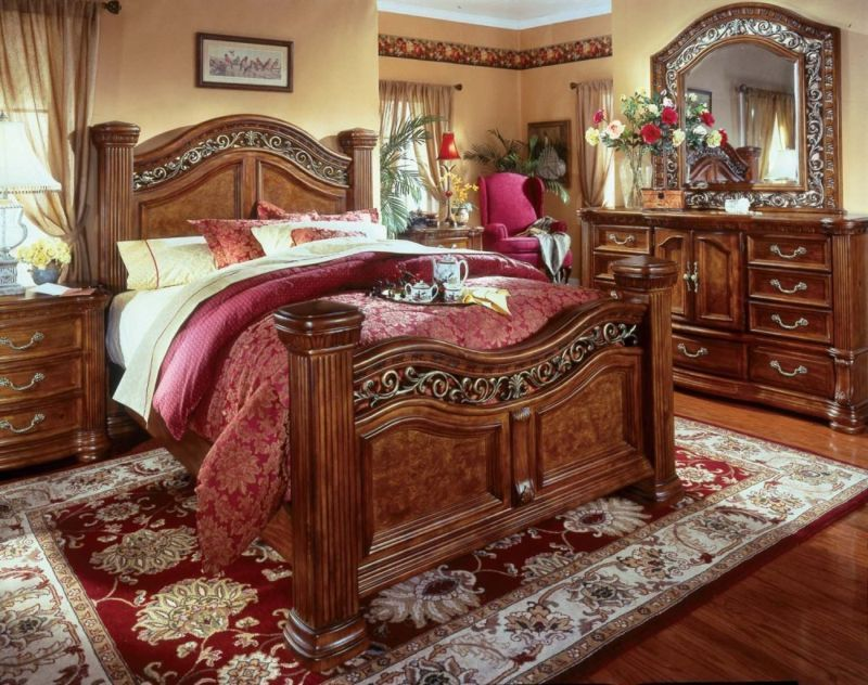 Bedroom Sets Erie Pa wynwood cordoba burnished pine king size mansion bed bedroom