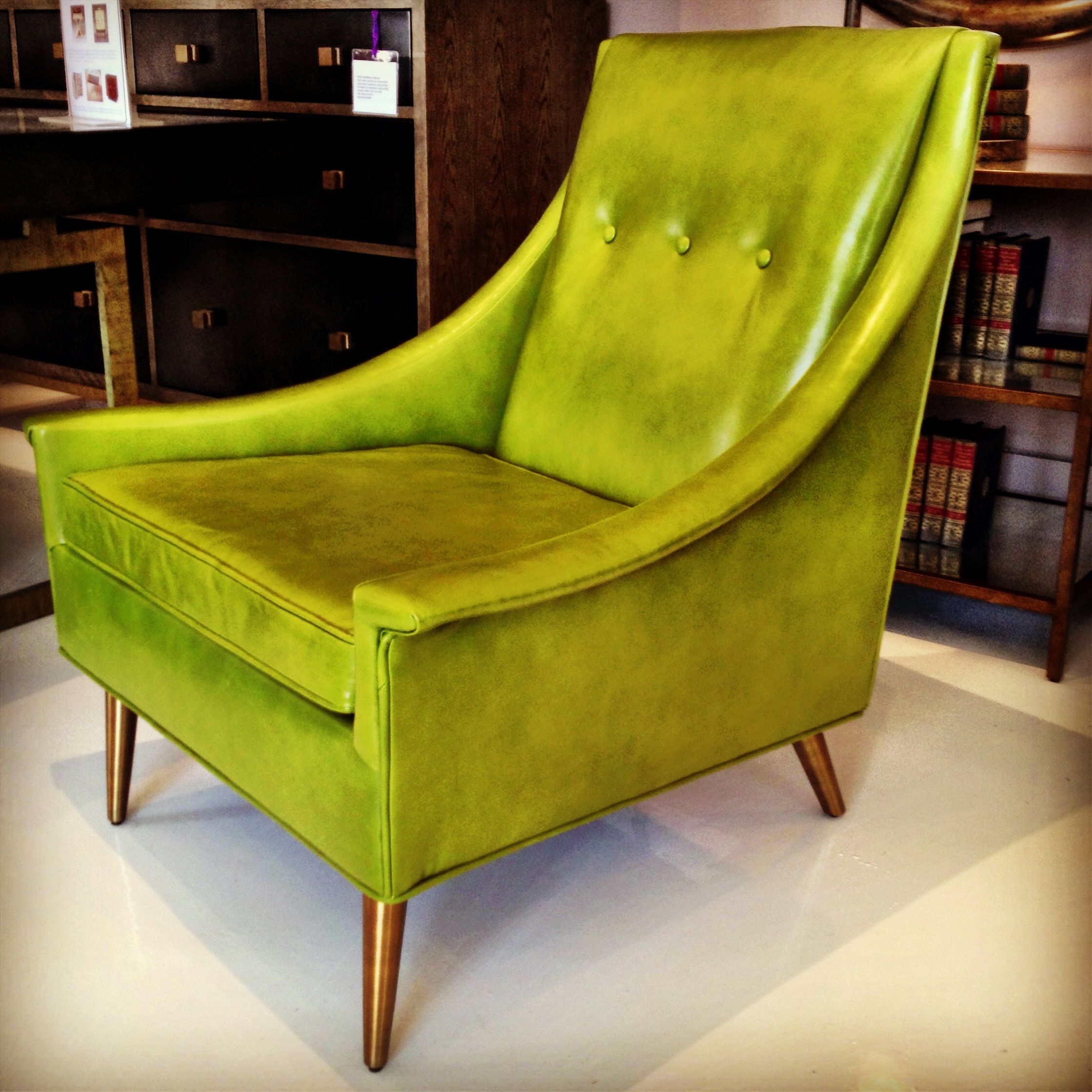 This Mid Century Inspired Leather Montes Chair At Julian