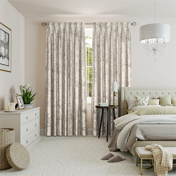 Crushed Velvet Oyster Curtains Ivory Curtains Curtains Velvet Curtains