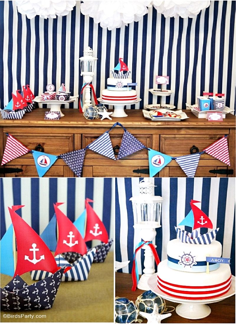 a preppy nautical birthday party deserts table party ideas trends by party bloggers. Black Bedroom Furniture Sets. Home Design Ideas