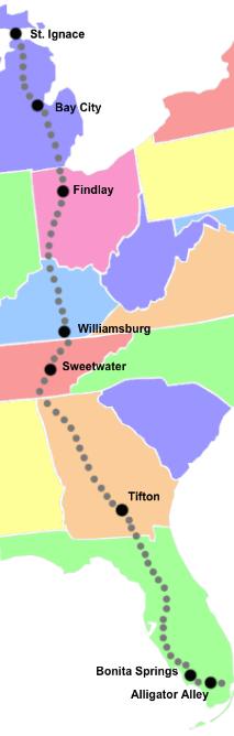 I 75 Michigan Map.Best Small Towns Along I 75 Florida Vacation Pinterest Florida