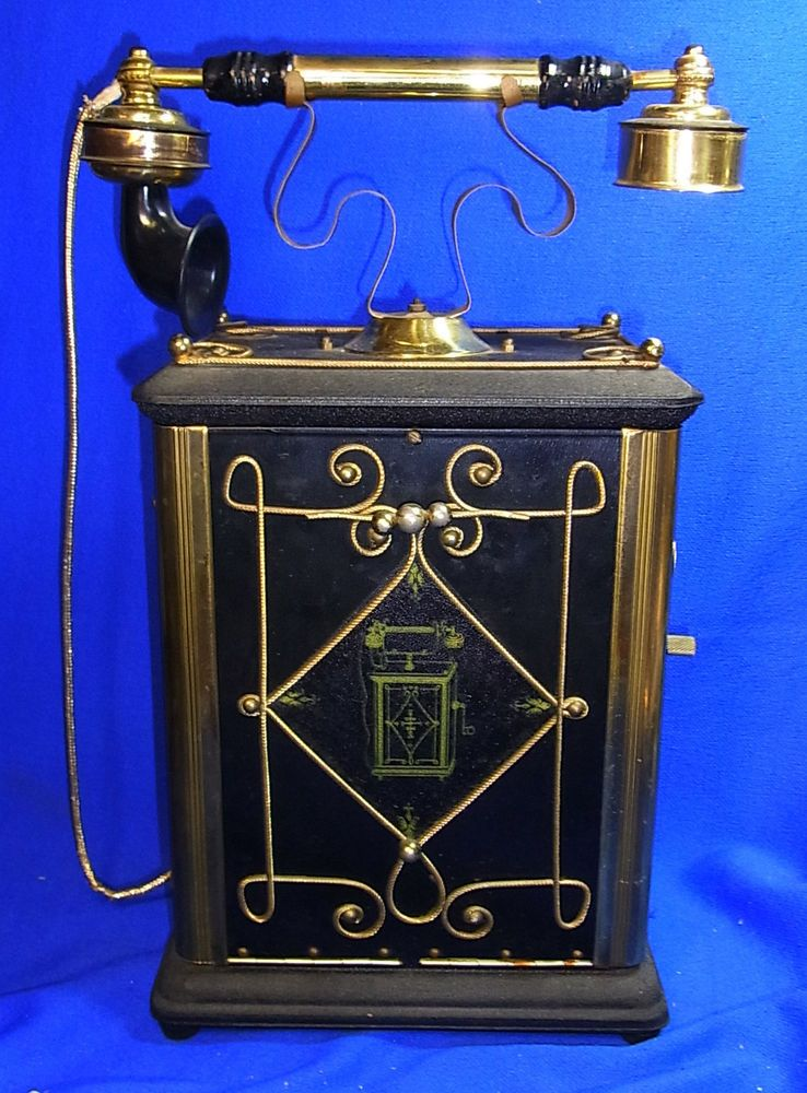 Vintage Prohibition Alcohol Cache Bar as Phone with Musical Box Antique Style #<