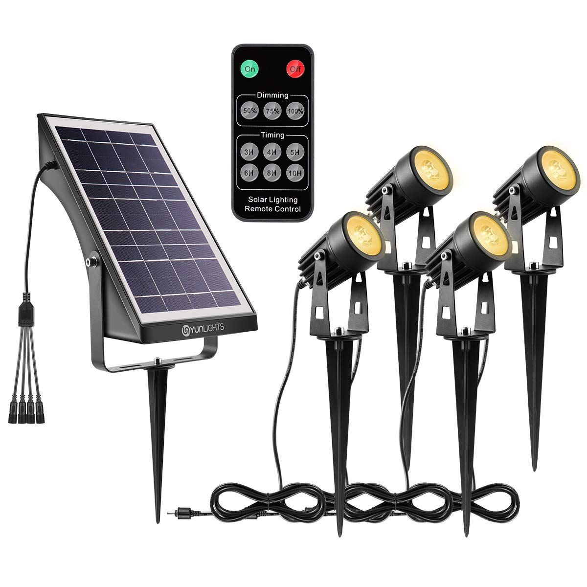 remote control outside light on Yunlights Solar Landscape Lights Low Voltage Outdoor Solar Spotlight Wireless Remote Contr Outdoor Landscape Lighting Solar Landscape Lighting Solar Landscape
