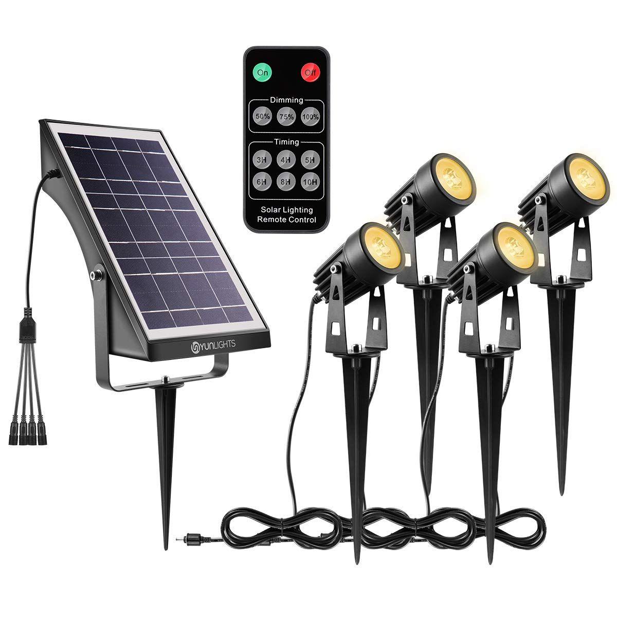 YUNLIGHTS Solar Landscape Lights, Low Voltage Outdoor