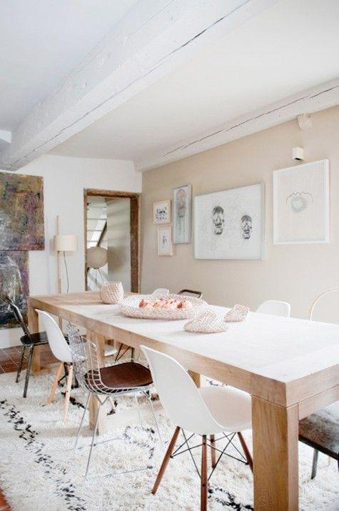 Woonkamer Eetkamer Set.Mismatched Chairs Interieur Interieur Woonkamer En