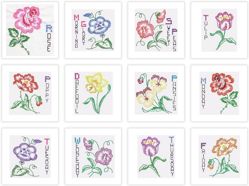 """""""A Flower a Day 4x4"""" +FREE Sample! When finished, these"""