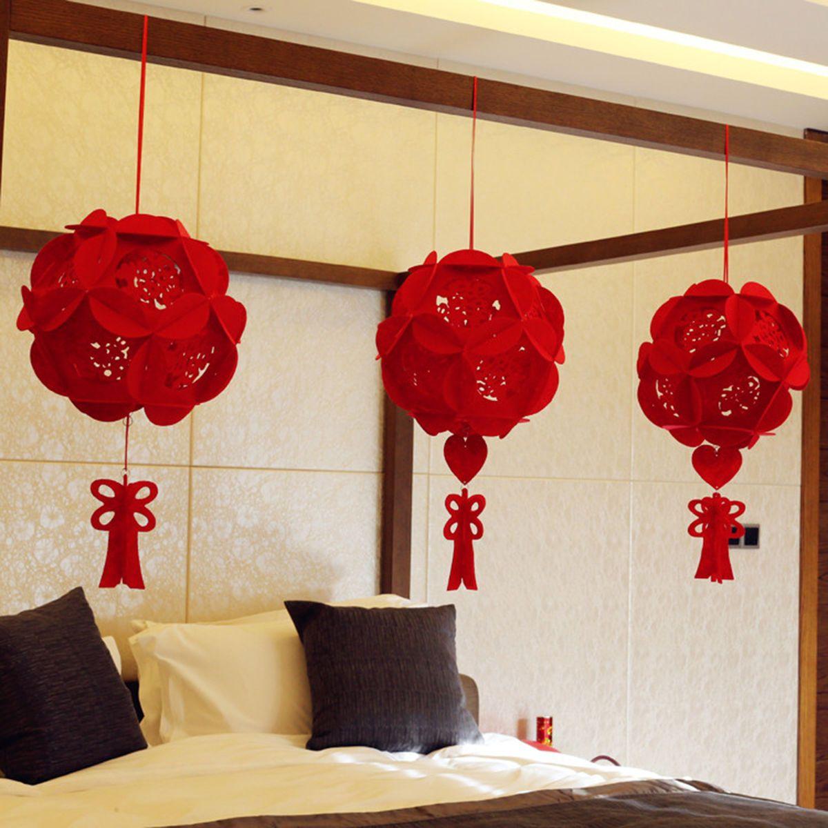 Wedding decorations red  pc Chinese wedding supplies Wedding decoration Red Lantern 浪漫婚房