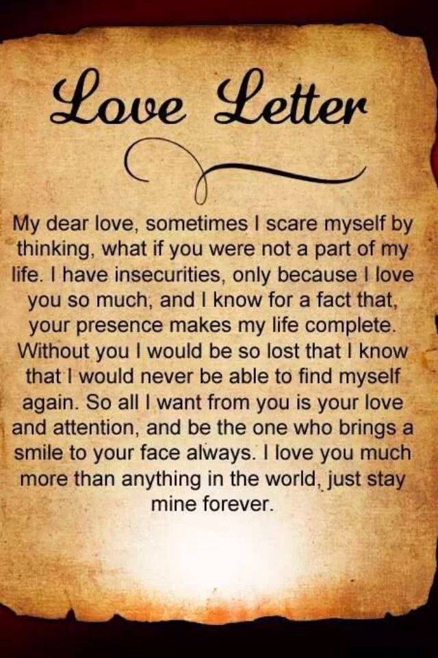 Pin by Staci Meza on LOVE Love letters quotes, Love my