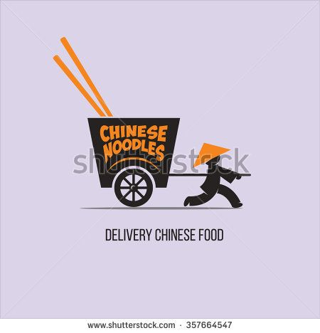delivery chinese food vector logo with a chinese cart stock rh pinterest ie chinese restaurant gosforth chinese restaurant gosford street coventry