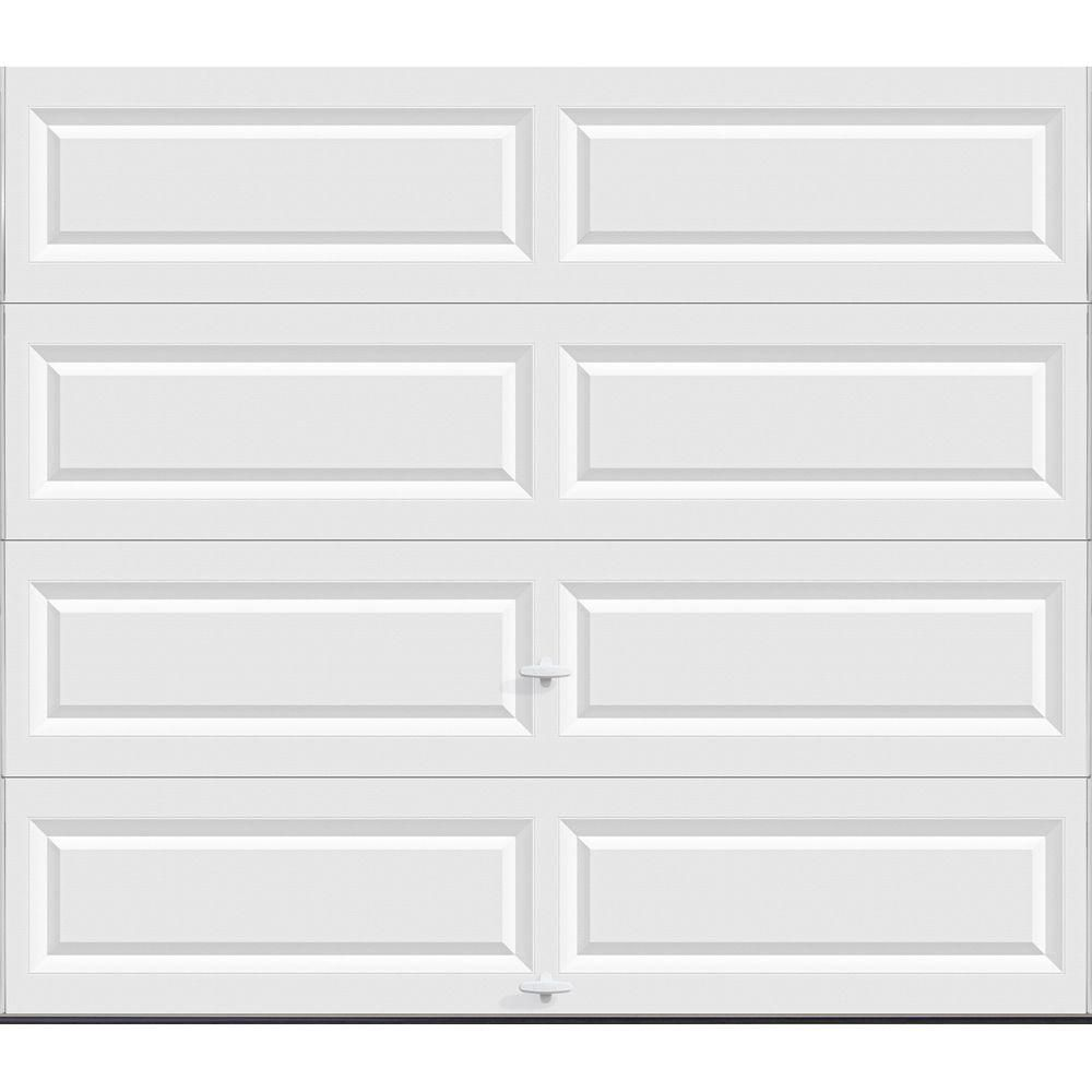 Clopay Classic Collection 8 Ft X 7 Ft Non Insulated Solid White Garage Door Hdbl Sw Sol The Home Depot Garage Doors White Garage Doors Garage Door Panels