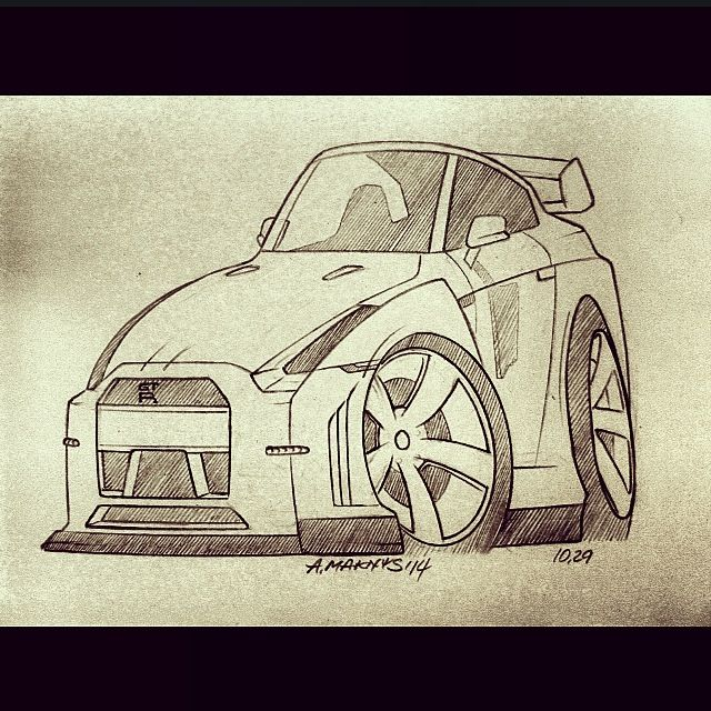 CARtoon'ed™ Nissan GT-R R35 By Algimantas Maknys