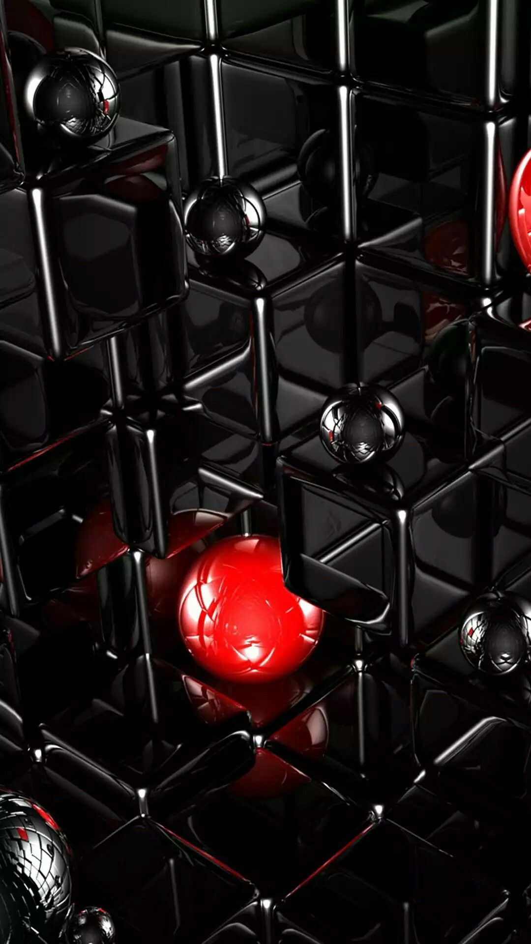 3d Black Cubes And Marbles Wallpaper Smartphone Wallpaper Apple Wallpaper Iphone Wallpaper Pc