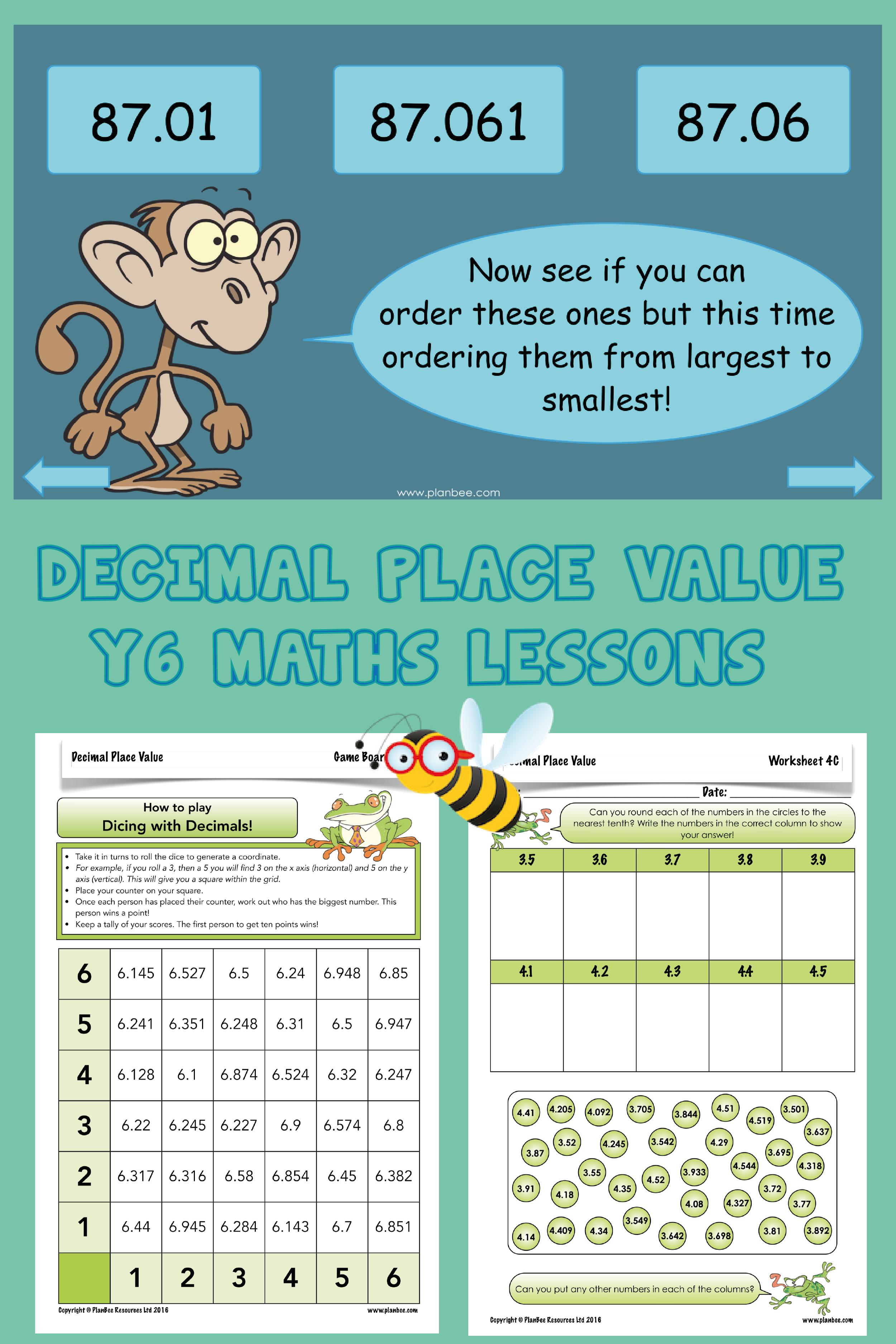 Decimal Place Value Decimal Places