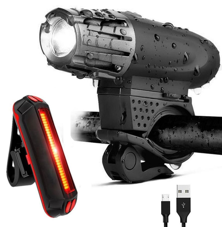 Sale Bicycle Front Rear Lights Set Rechargeable USB LED Mountain MTB Headlight