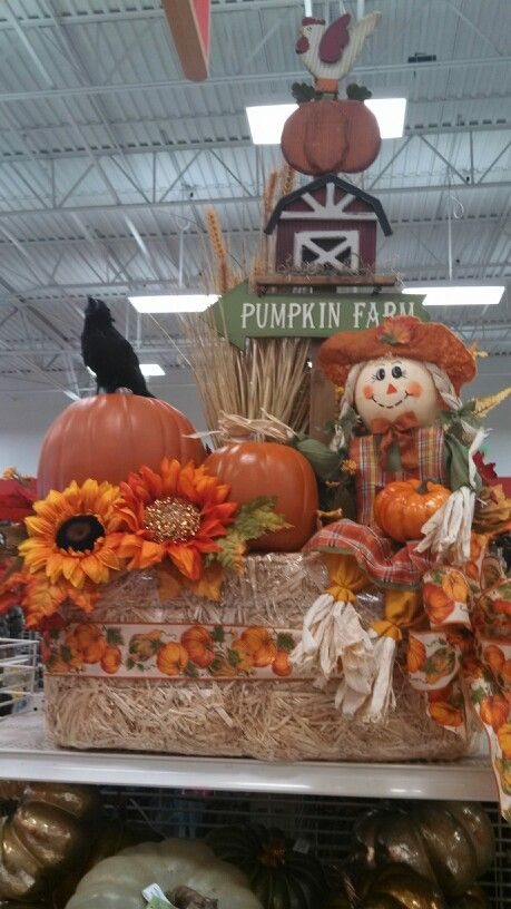 Hay Bale And Scarecrow Michaels Fall Harvest Decorations