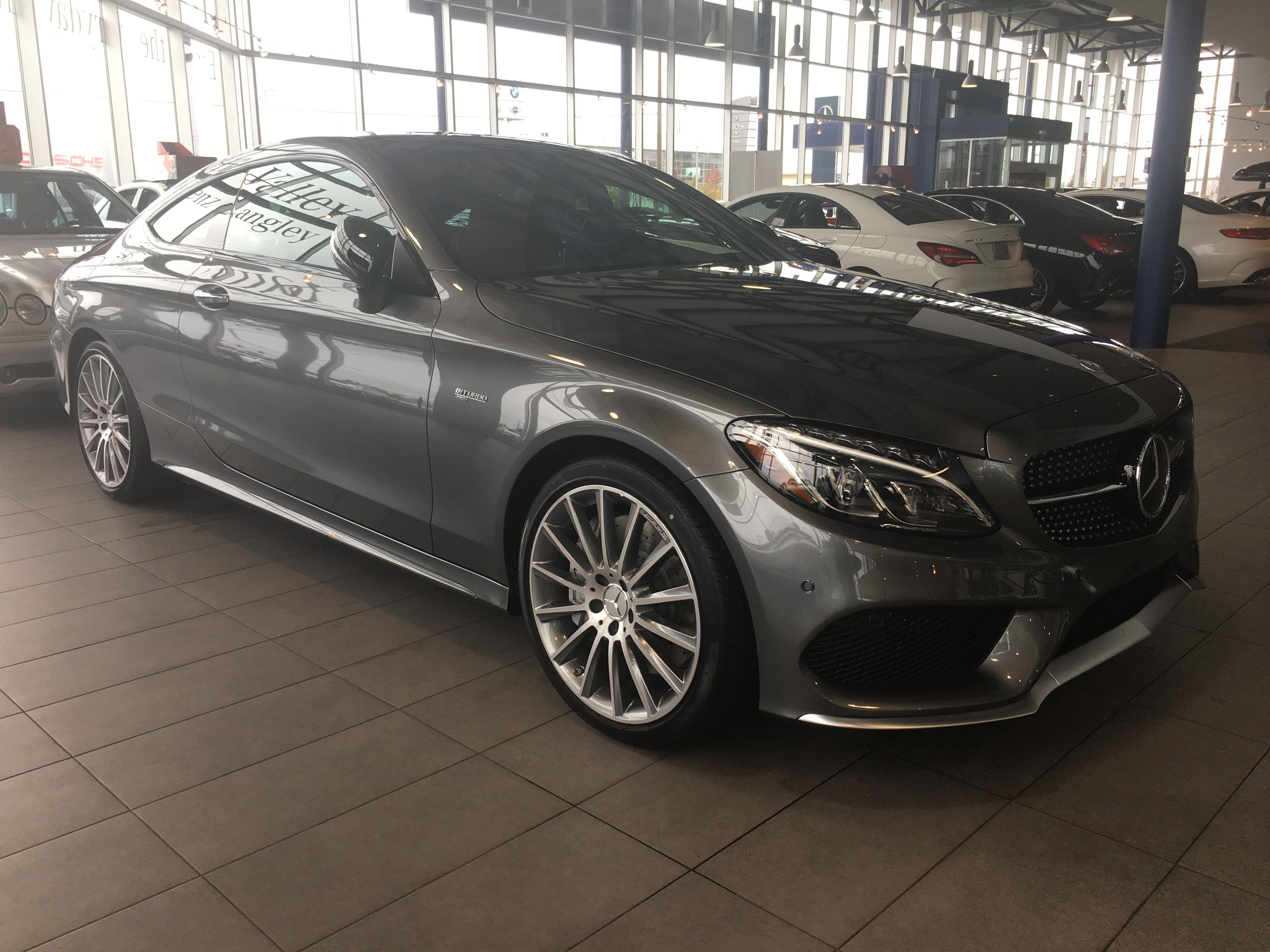 Our first c43 coupe ready for delivery in langley bc canada mercedes_benz mercedes