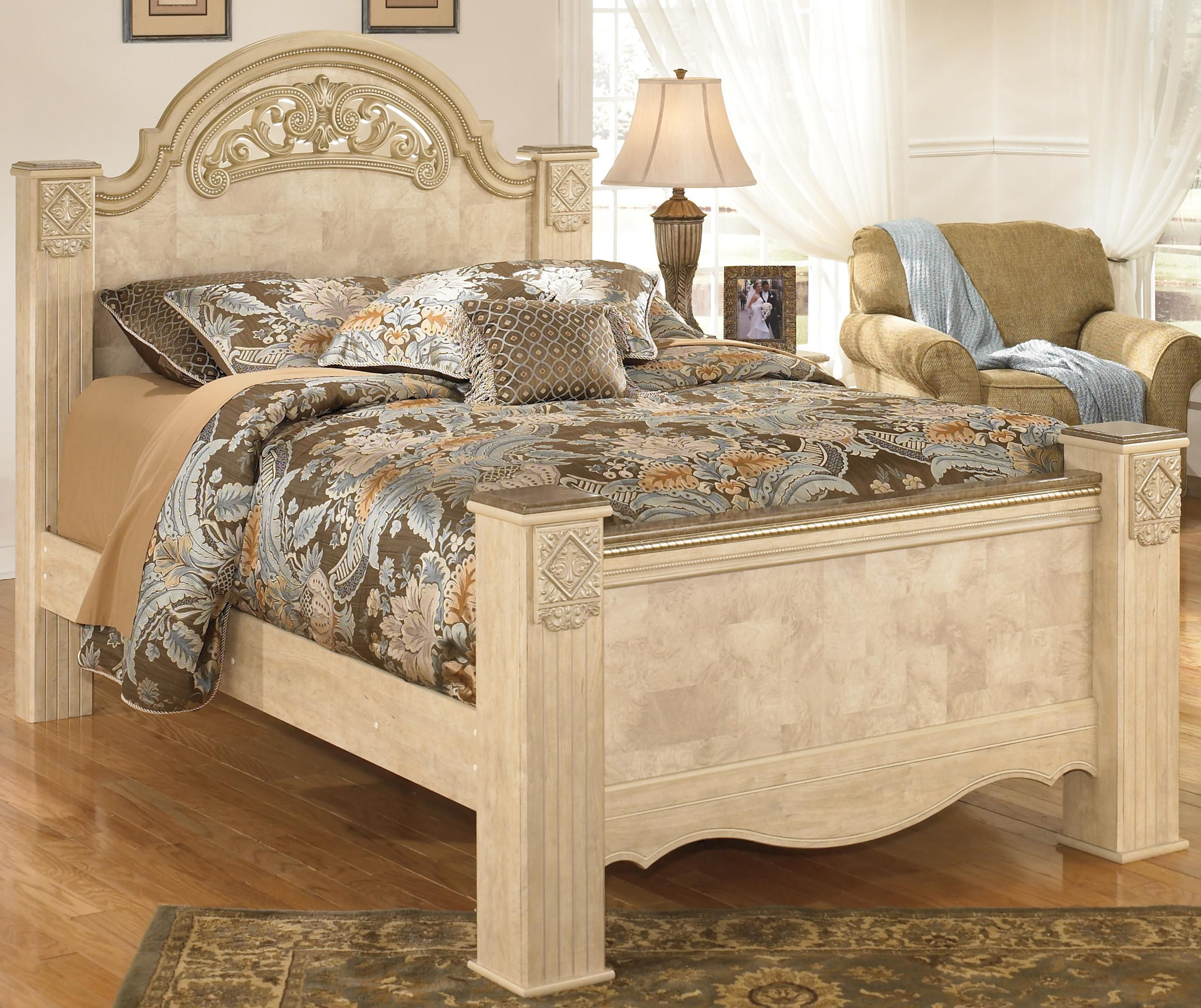 Saveaha Queen Poster Bed By Signature Design By Ashley Available At  RoyalFurniture.com